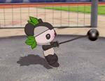 福娃扔铅球表演