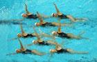 奥运休闲设施成训练器材 花样游泳队苦练