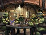 亲如兄弟的小龟一起吃饭
